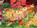 Traditional roasted piglet